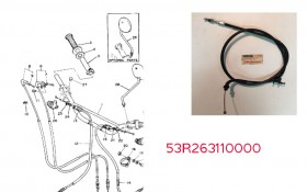Cable gaz  YAMAHA XT550 53R263110000